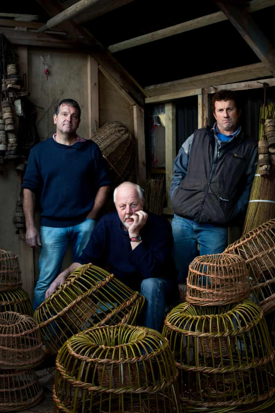 Cadgwith fishermen Danny Phillips, Nigel Legge and John Trewin.