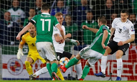 Niall McGinn shows Northern Ireland the way in opening win against Estonia