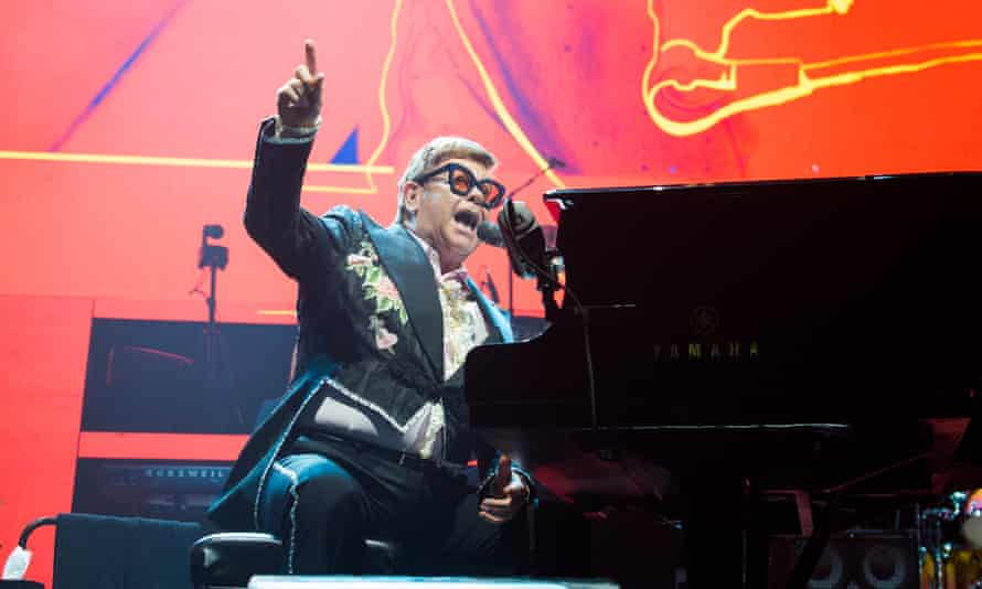 Elton John performing in Paris, June 2019