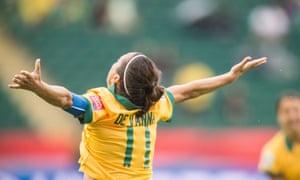 Lisa De Vanna scored once on the Matildas' run to the quarter-finals in Canada.