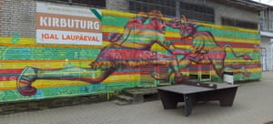 Wall art in Tallinn's Creative City complex.