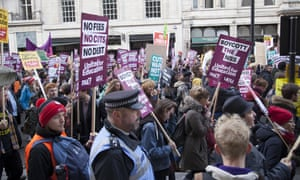 Student protest over access and quality of higher education, London