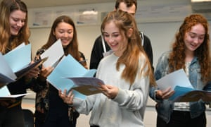 Harriet Selway (centre) who got one A star, two A's and an A in EPQ in her results at St Mary Redcliffe and Temple School in Bristol