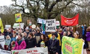 Demonstration against fracking in Nottinghamshire