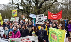 Anti-fracking campaigners gather at Sherwood Forest