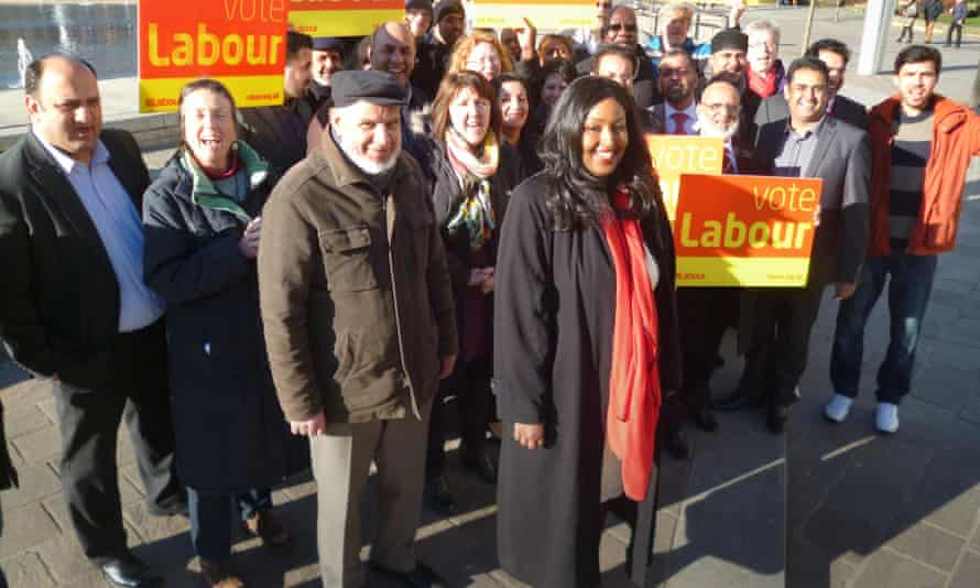 Amina Ali with Bradford West members after her selection as Labour candidate