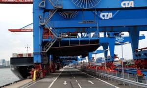 Container Terminal Altenwerder, Hamburg port