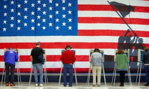 Voters cast their ballots to vote in state and local elections at Robious Elementary School in Midlothian, a suburb of Richmond, Virginia,