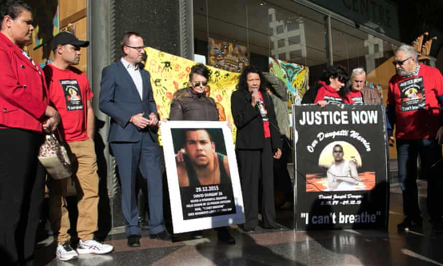 Leetona Dungay talks outside the inquest into the death in custody of her son, David Dungay Jr, in Sydney.
