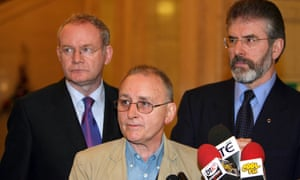 Martin McGuinness, Denis Donaldson and Gerry Adams in 2005