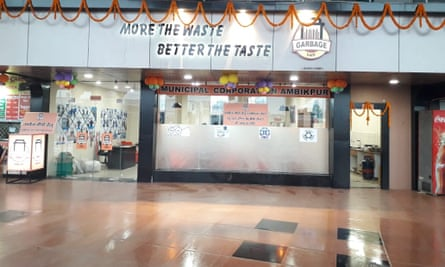 The Garbage Cafe, opened by the Ambikapur Municipal Corporation in October, gives a meal to anyone who brings in plastic waste.