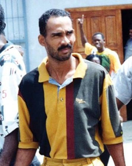 Neil Hernandez after his arrest in 2000
