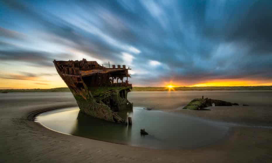 The Irish Trader was shipwrecked at Baltray beach, County Louth, in 1974.