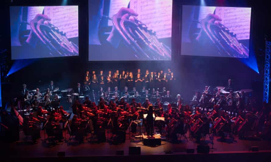Eimear Noone conducting at the Video Games Live Concert in the Convention Centre, Dublin