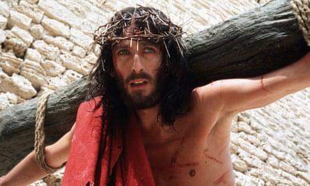 … Robert Powell as Jesus of Nazareth in the 1977 TV miniseries.