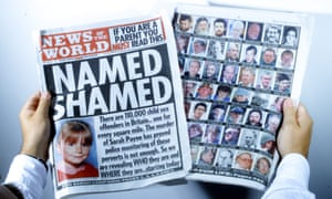 News of The World edition which named paedophiles and revealed their whereabouts.