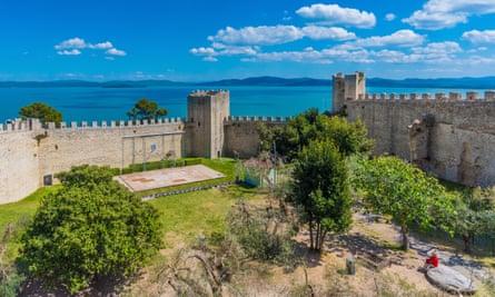 Castiglione Del Lago, a medieval town and castle beside Lake Trasimeno.