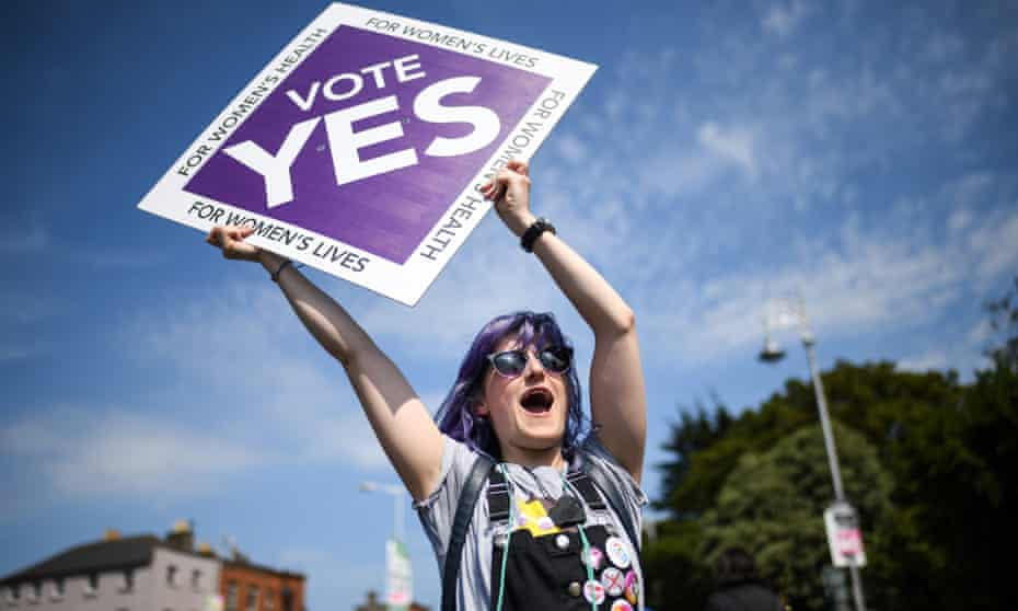 A supporter of the movement to abolish Ireland's eighth amendment, which made abortions illegal in the country. It was overturned in a referendum in May this year.