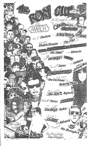 Flyer from the Roxy.