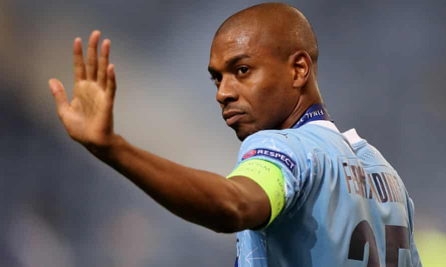 Fernandinho after the Champions League final defeat to Chelsea.