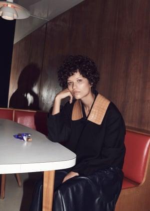 Leather at Céline Jacket £3,760, and dress, £2,118 (celine.com)