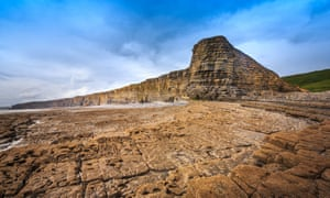 The cliffs at Nash Point.
