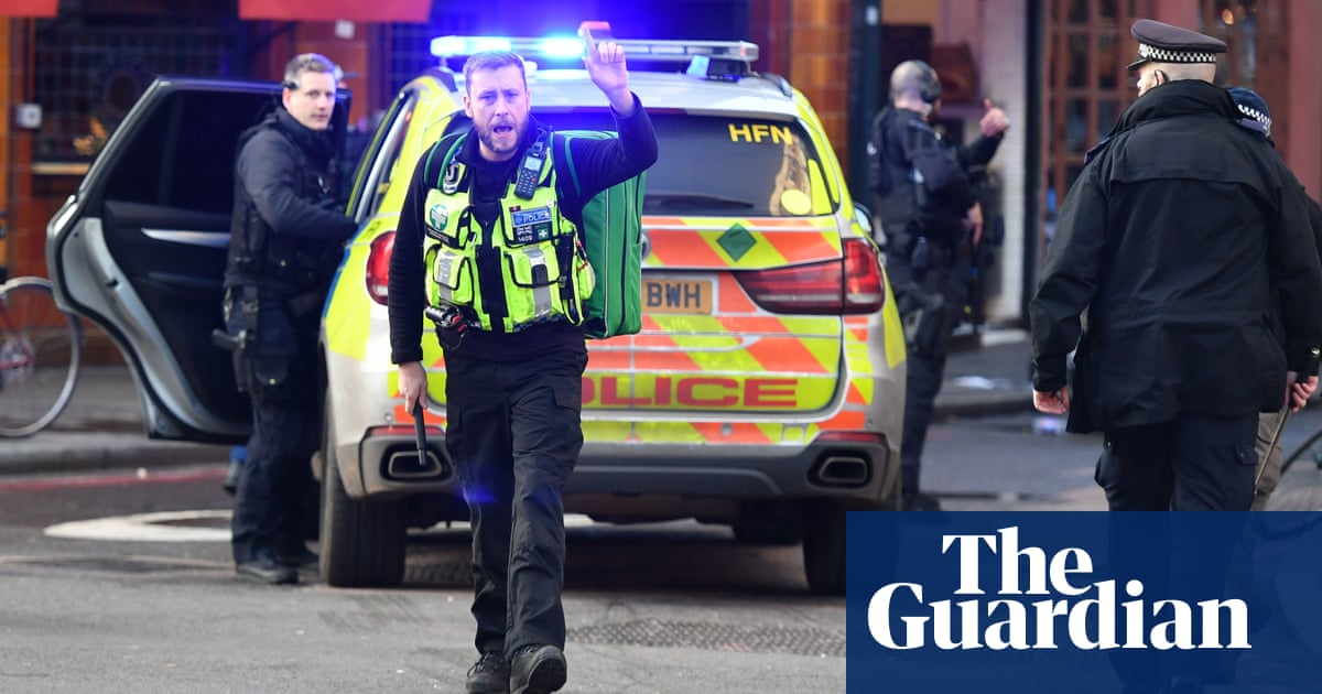 Narwhal tusk and fire extinguisher used to tackle London Bridge attacker | UK news