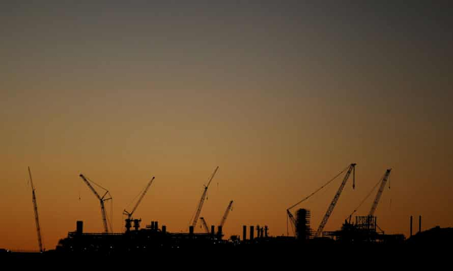 The North West Shelf gas project in Burrup, Western Australia.