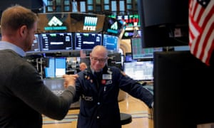 Traders celebrate Wall Street's recovery on Friday