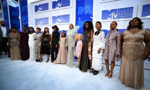 Beyonce and mothers of men killed by police attend the 2016 MTV Video Music Awards in New York City.