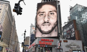 Nike's ad featuring the American footballer Colin Kaepernick