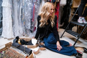 """Rachel Zoe's """"before"""" closet, which has been given the Edit once before."""