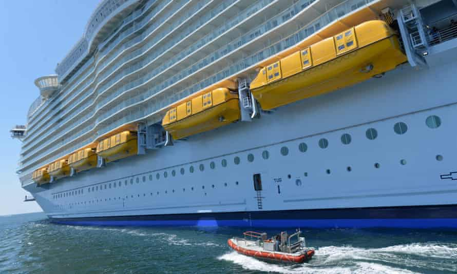 Aboard the Harmony of the Seas, some 2,100 crew look after up to 6,780 guests.