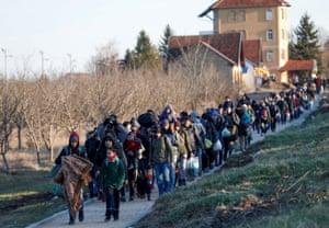 Migrants protest in Serbia