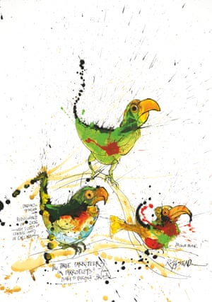 The Three Parroteers or Parrotlets by Ralph Steadman