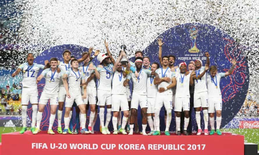 England celebrate their Under-20 World Cup triumph.