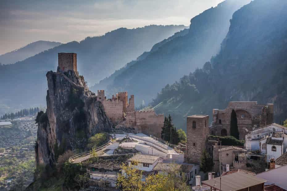 Castle La Iruela located in the Sierra de Cazorla in the region of Andalusia, Spain.