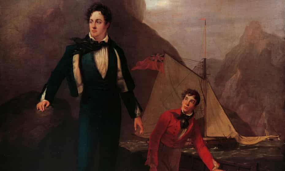 Portrait of Lored Byron by George Sanders, 1808-9.