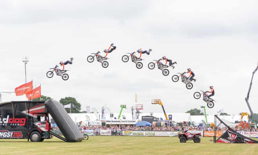Mototbike display at th Royal Cheshire Show.