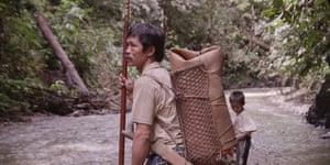 A still from the film in Borneo