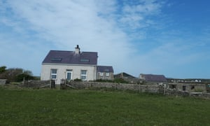 House on the outskirts of Holyhead, Wales where a man was left critically injured after being shot by a crossbow while fixing his satellite dish