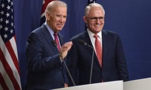 Joe Biden and Malcolm Turnbull