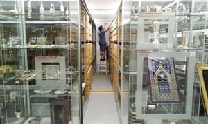 Visible storage at the Jüdisches Museum in Vienna