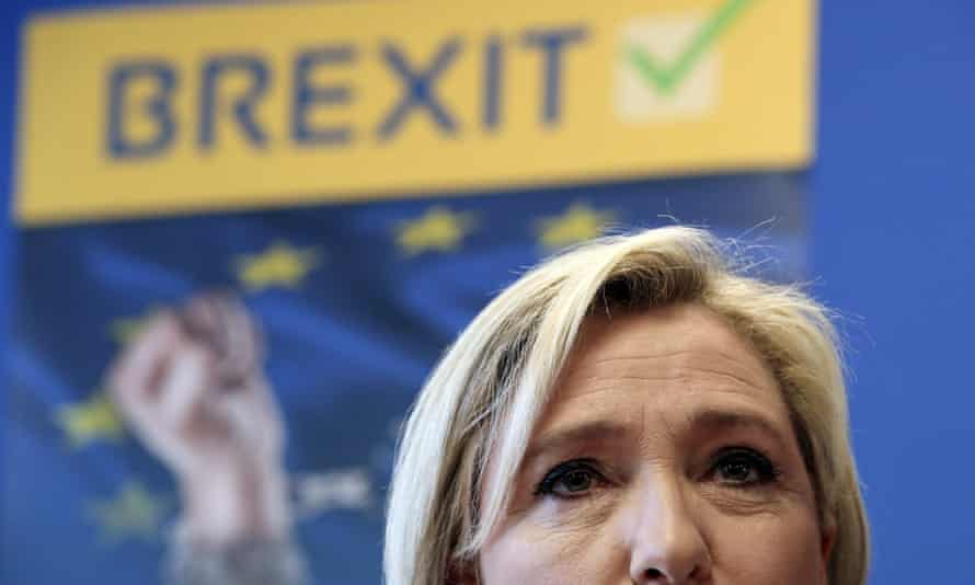 Marine Le Pen has said she will hold a referendum if she becomes French president.