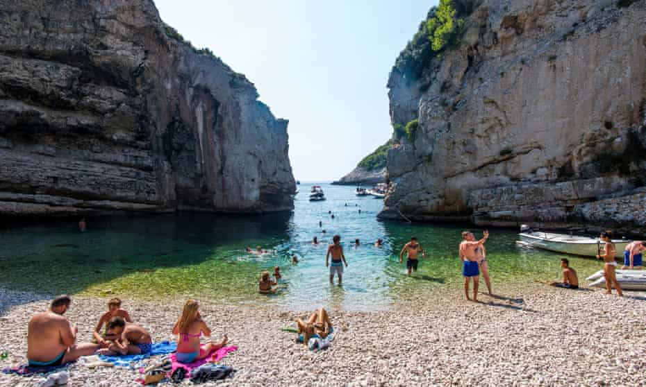 'The water is achingly clear': Stiniva beach, Vis island.
