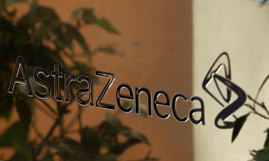 An AstraZeneca sign