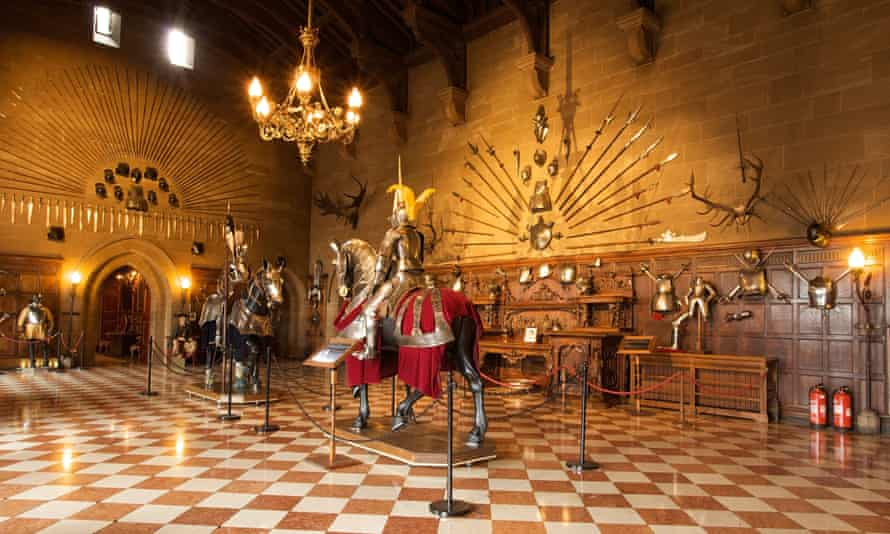 The Great Hall has a fantastic display of armours and weapons.