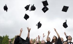Students celebrate their graduation ceremony.