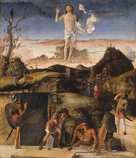 A gorgeous moment ... Bellini's Resurrection of Christ, 1475-1479.