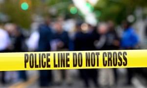 A crime scene in Brooklyn, New York, October 2019